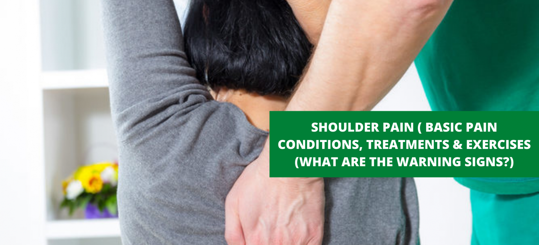 SHOULDER PAIN ( BASIC PAIN CONDITIONS, TREATMENTS & EXERCISES (WHAT ARE THE WARNING SIGNS?)
